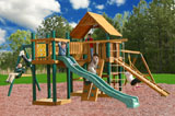 Pioneer Peak Wooden Swing Set