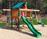 Space Saver Wooden Swing Set